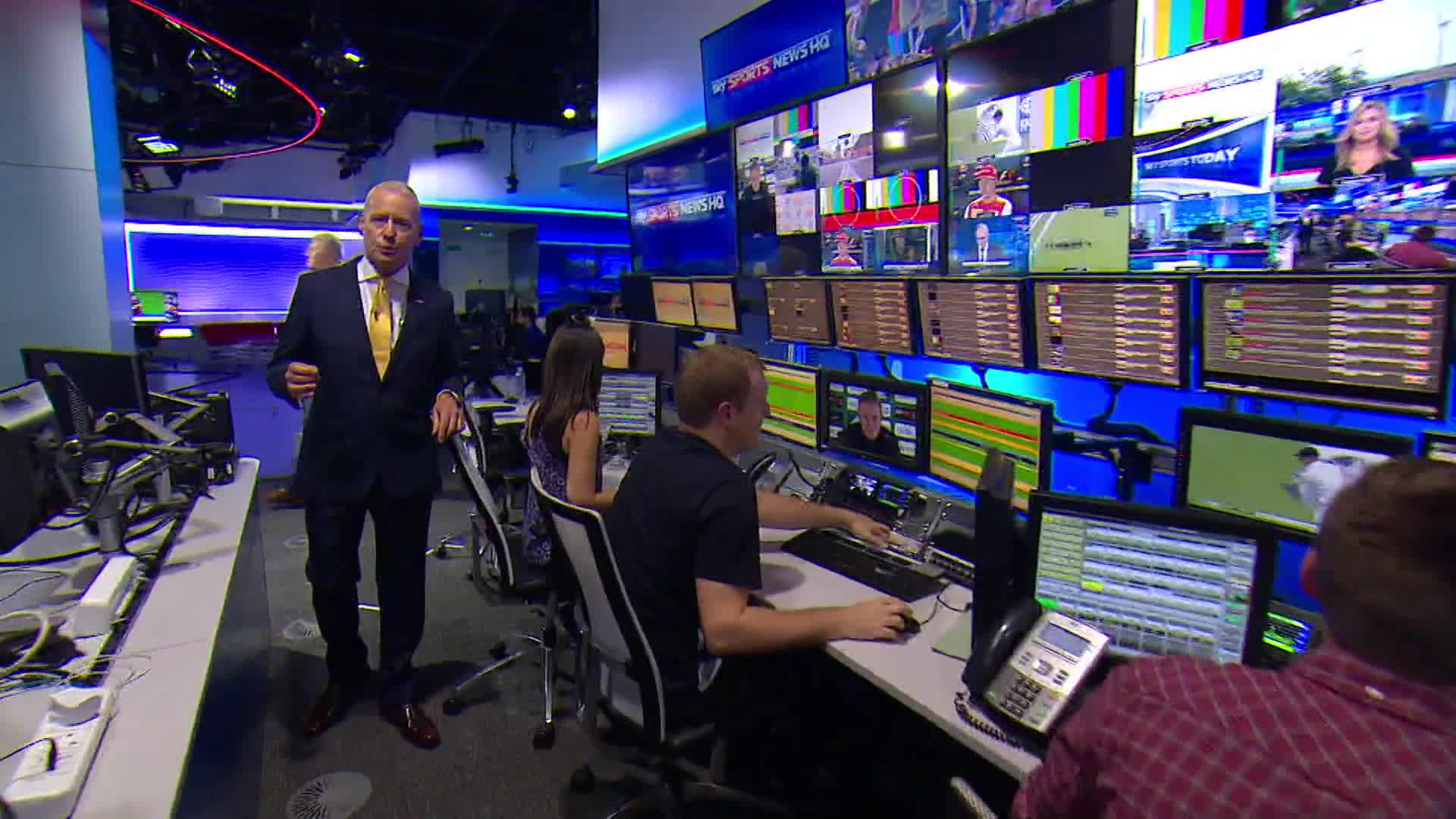 Sky news room