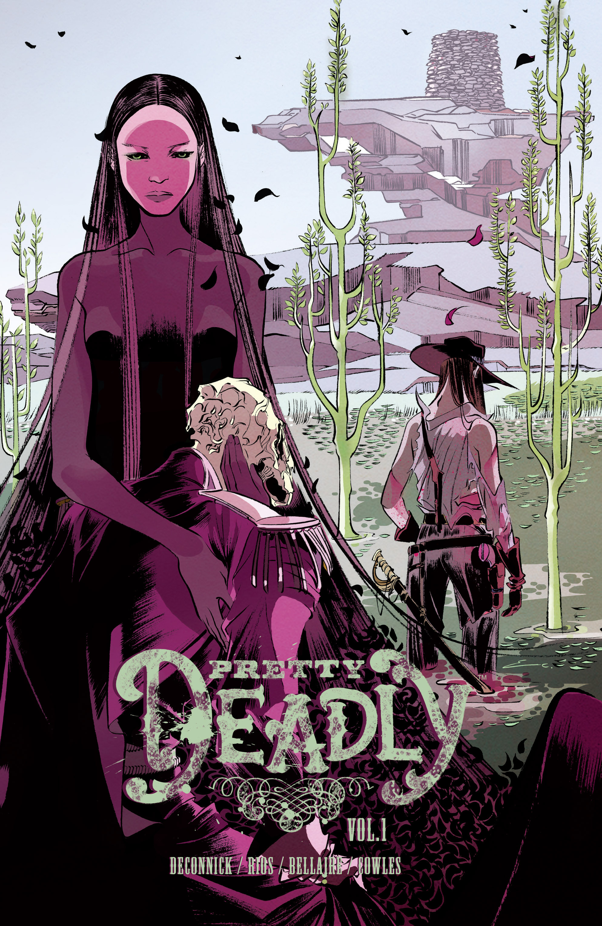 Pretty Deadly     Volume 1: The Shrike   by Kelly Sue DeConnick, Emma Rios and Jordie Bellaire