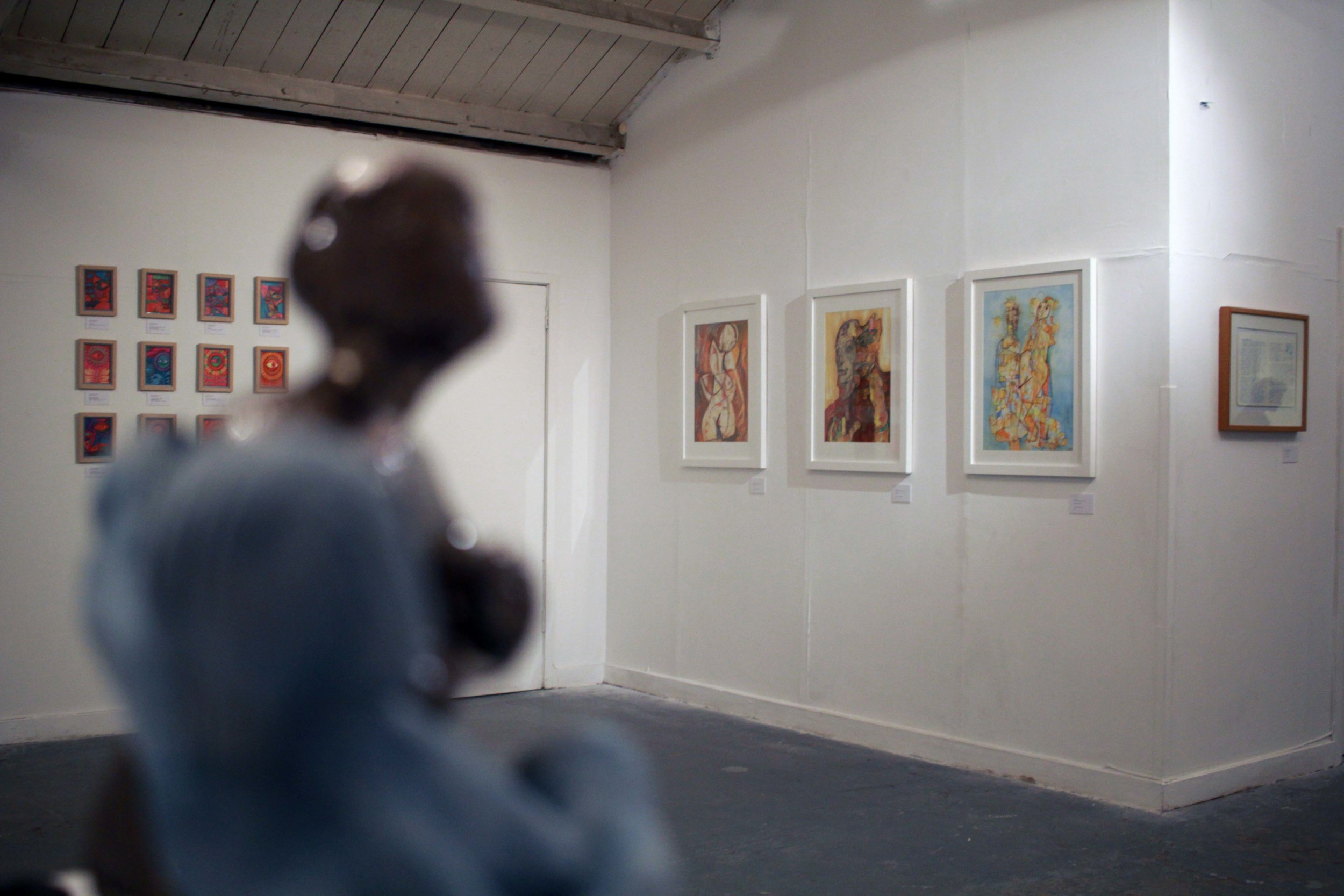 Exhibition view:     Broken Minds   at The Outsider Gallery