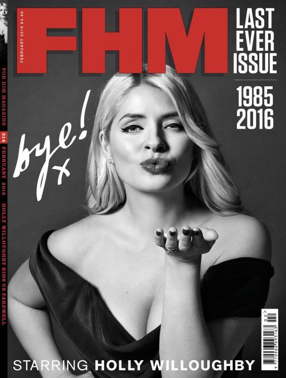 FHM magazine's last issue, 2016
