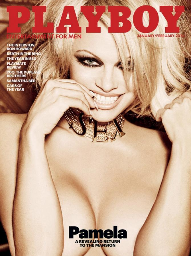 Pamela Anderson starring in the last issue of Playboy magazine, 2016