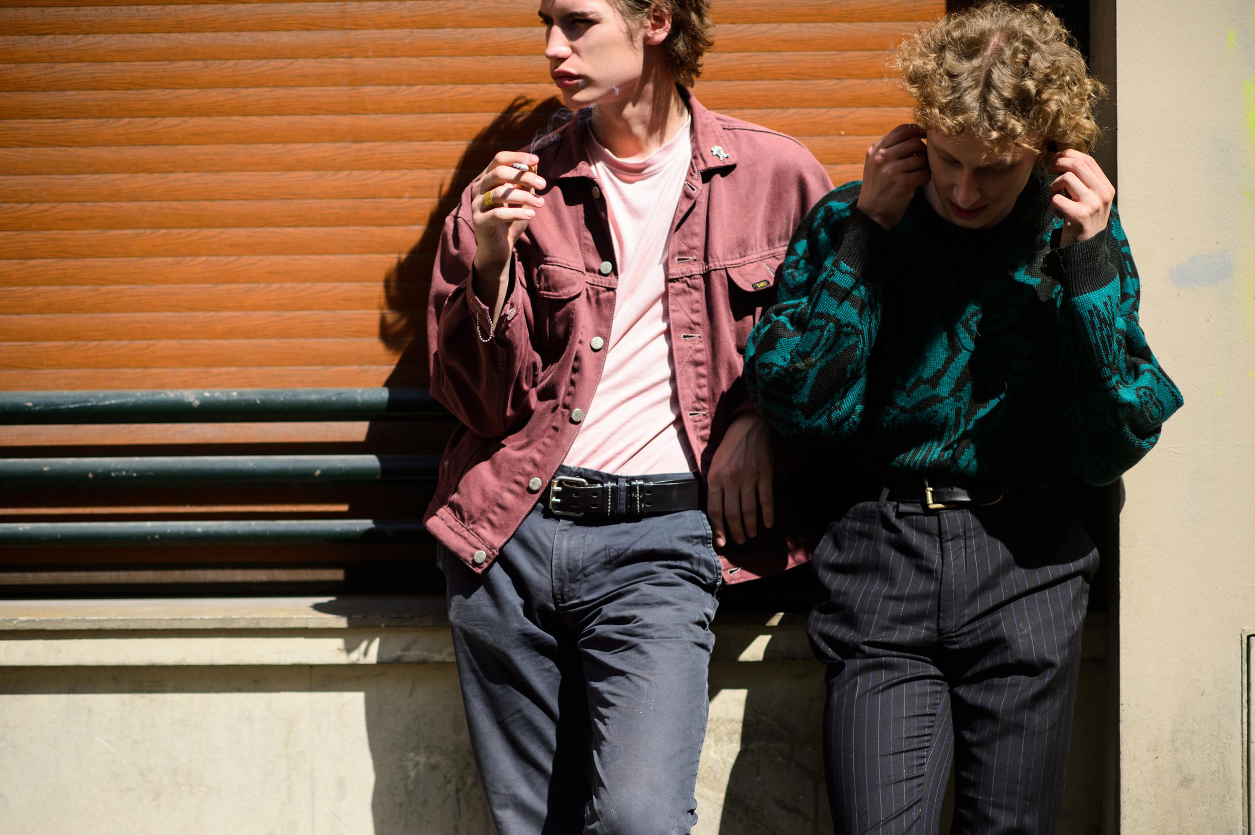 Street style for Le 21ème at Paris Men's Fashion Week, Spring/Summer 2016.