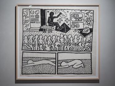 Keith Haring's work exhibited at  Kolumba art museum