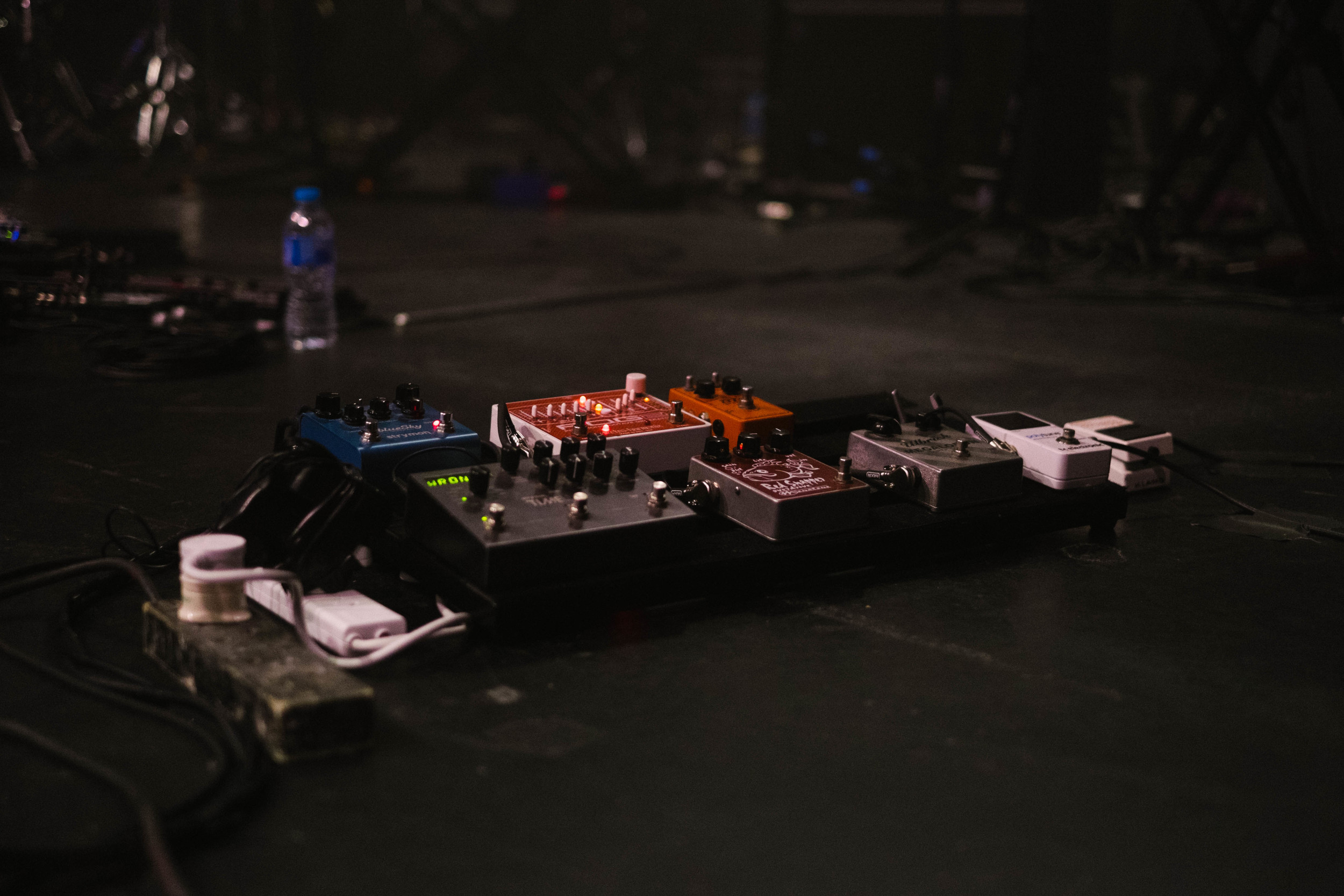 Equipments at Matt Corby's show in Electric Brixton, London, 2015