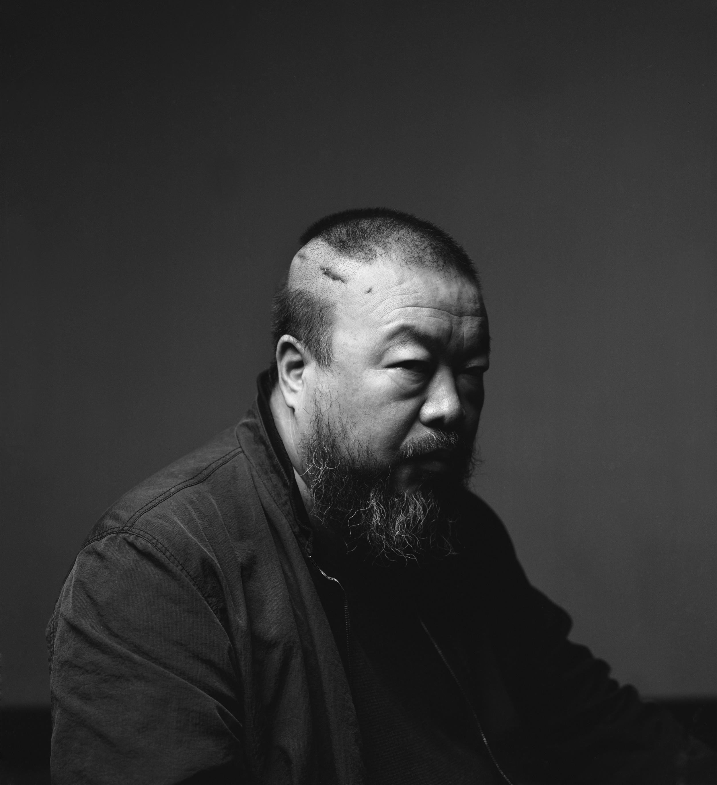 A portrait of artist Ai Weiwei