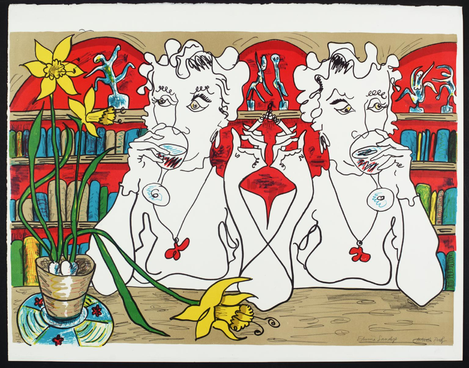 ' Double Vision '1974 by Edwina Sandys