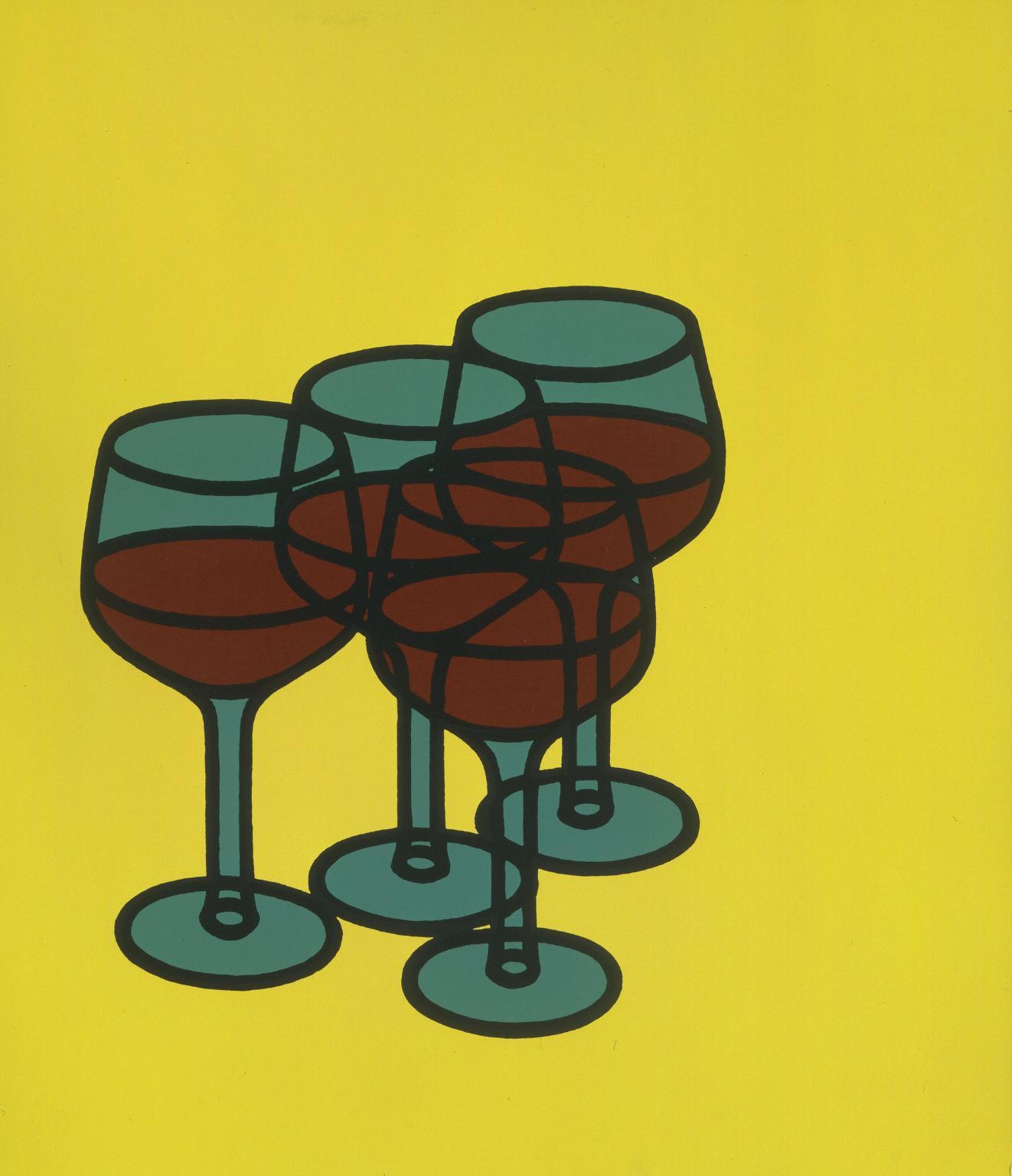 '  Wine Glasses' 1969 by Patrick Caulfield
