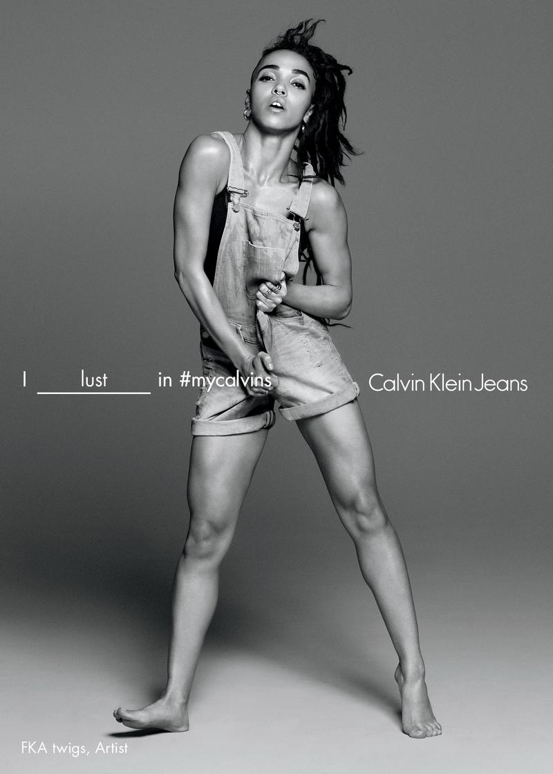 FKA Twigs in #mycalvins jeans SS'16 campaign by David Sims