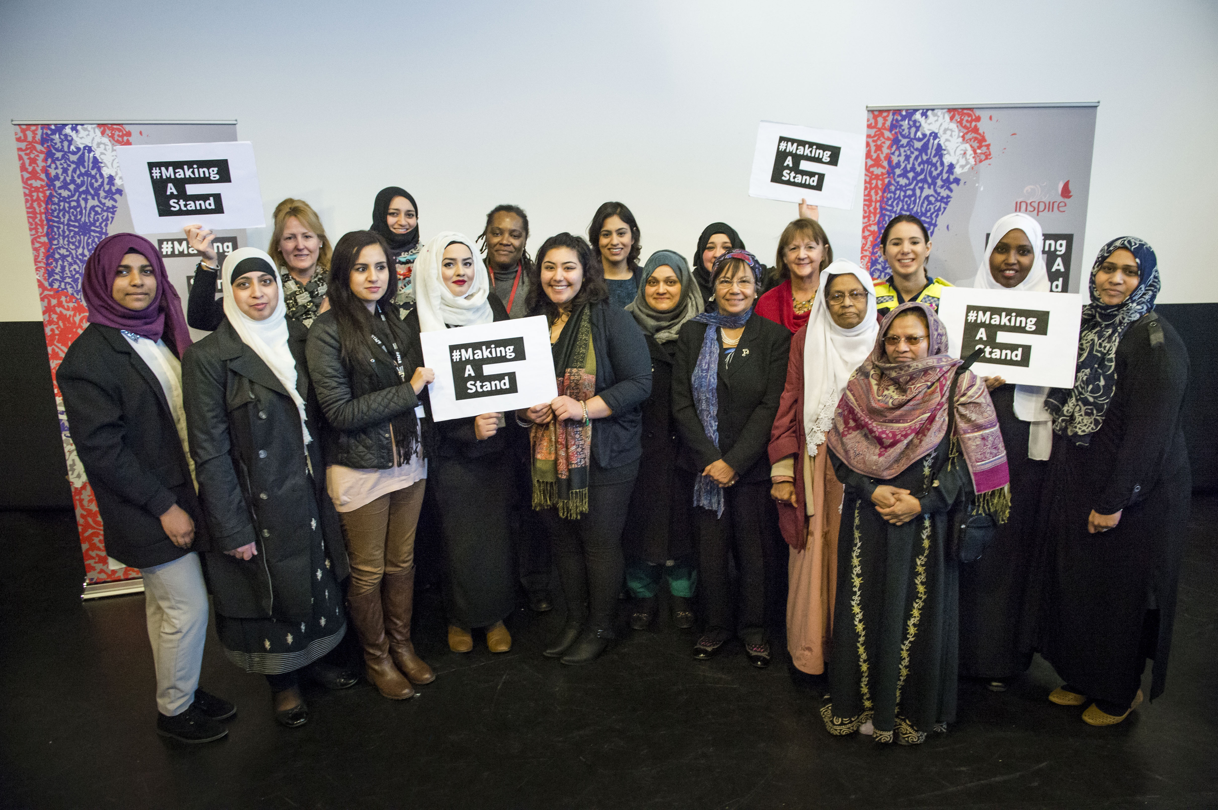 Inspire's # MakeAStand  campaigners, February 2015