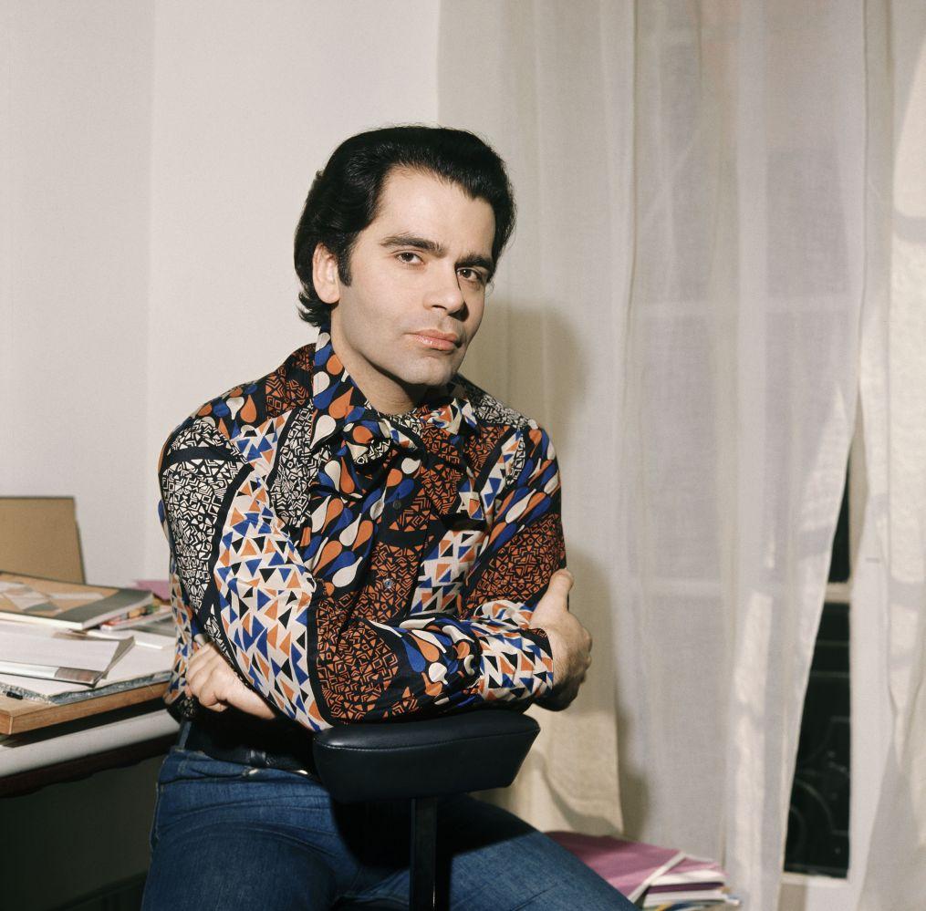 Karl Lagerfeld by Gamma Keystone, 1972