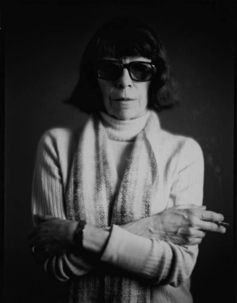 Portrait of  Joan Mitchell . Photo by Timothy Greenfield-Sander