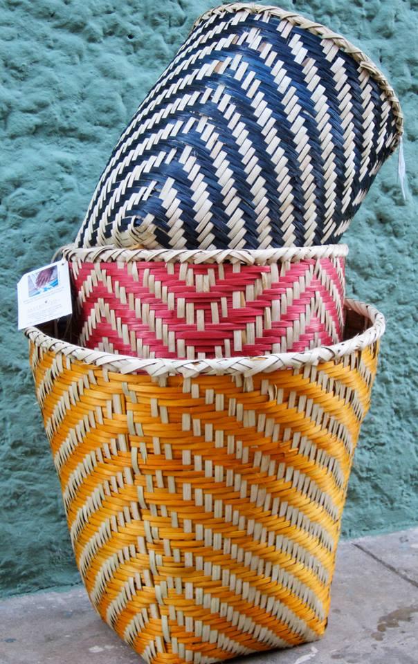 Papiro Y Yo's h and-weaved baskets