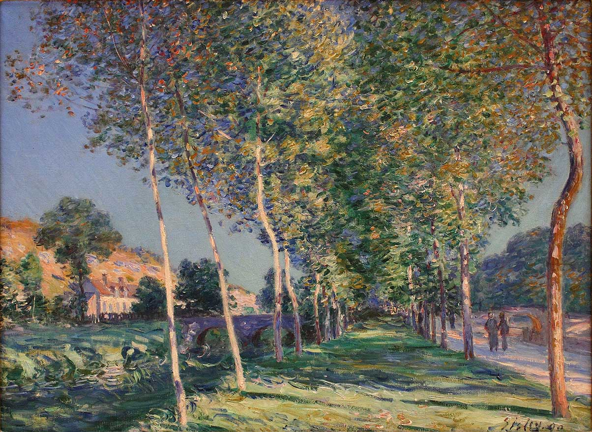 Allée des peupliers de Moret , 1980 by Alfred Sisley has been stolen three times from the Musée des Beaux-Arts.