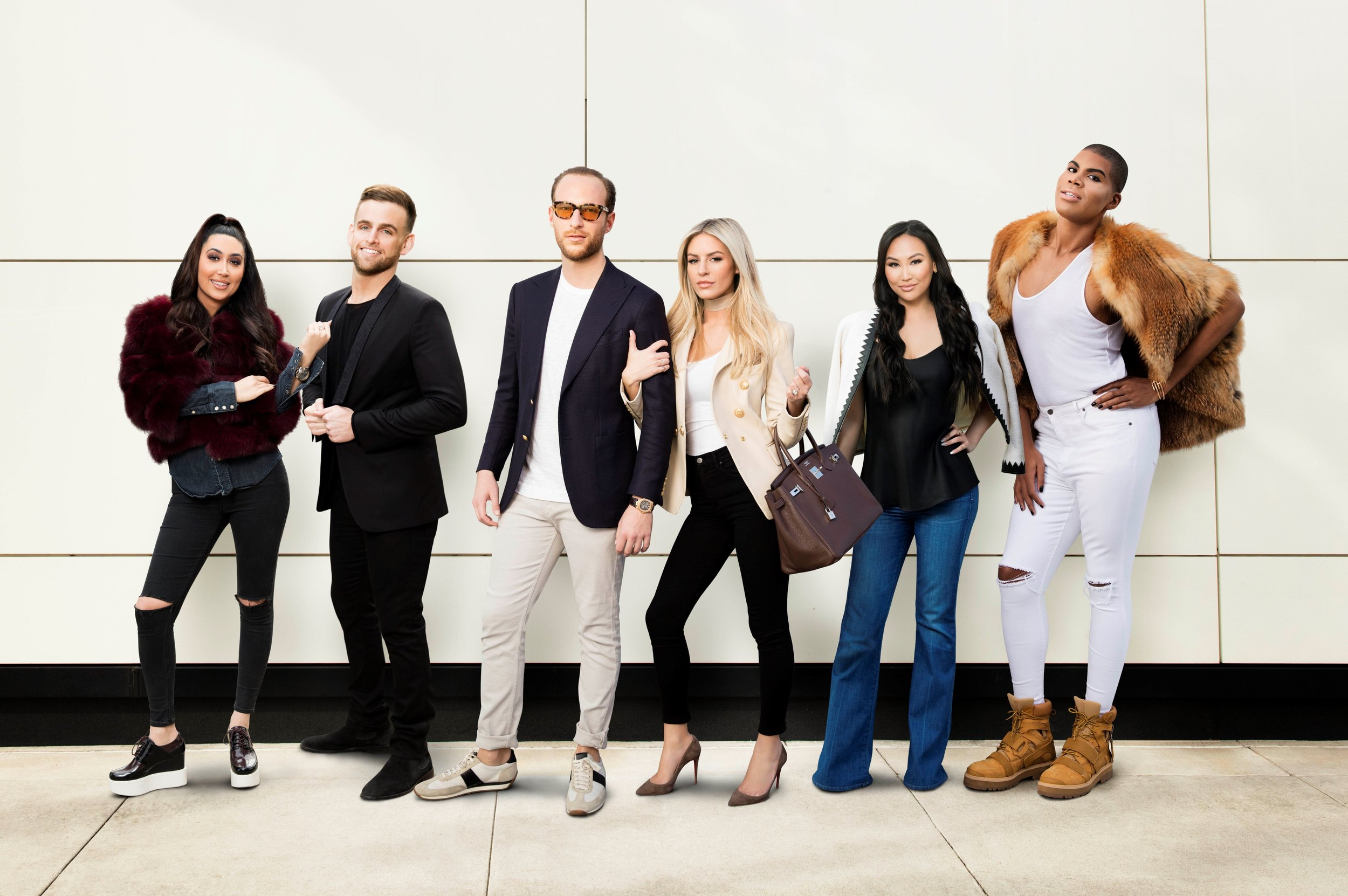 The cast of American reality television series;Rich Kids of Beverly Hills. Photo source:E! Entertainment Television, LLC.