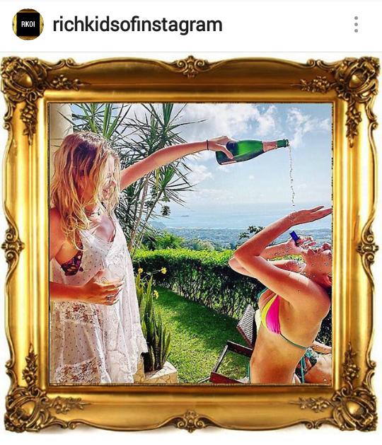 """ Sisterly champagne showers "" - @traviskipp"