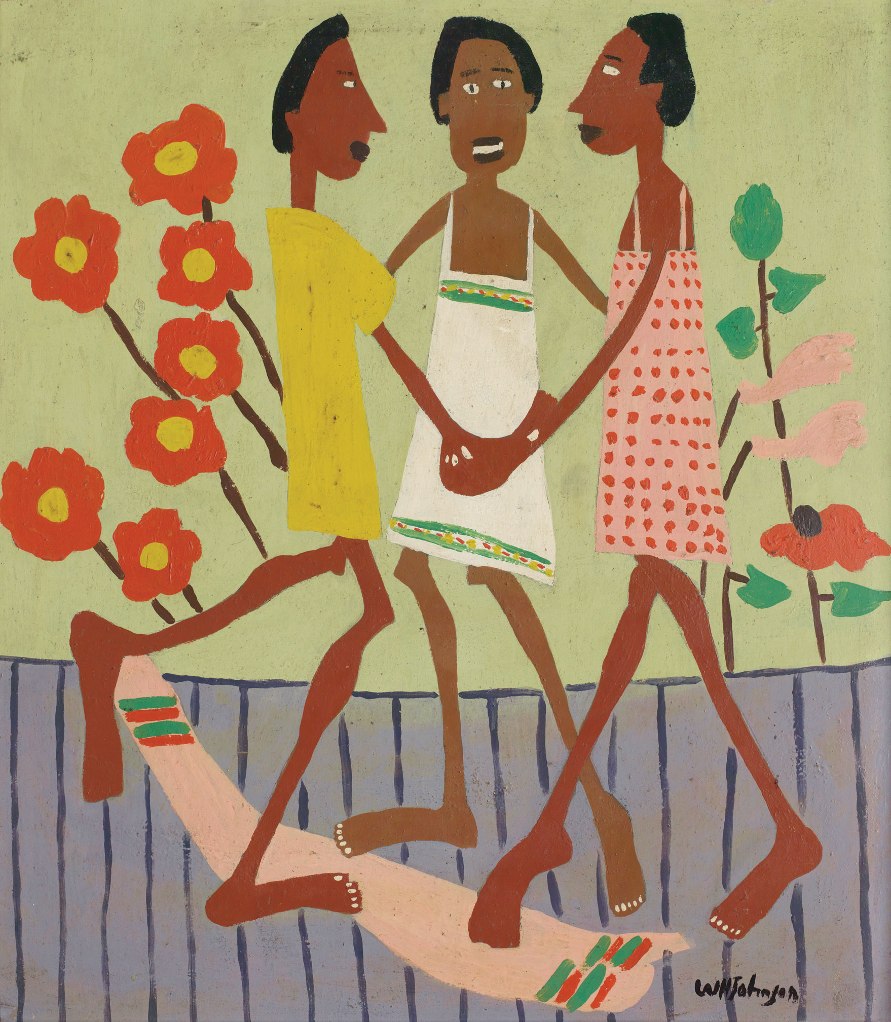'Ring Around the Rosey' 1944 by William H. Johnson's. Part of the collection of Morgan State University.