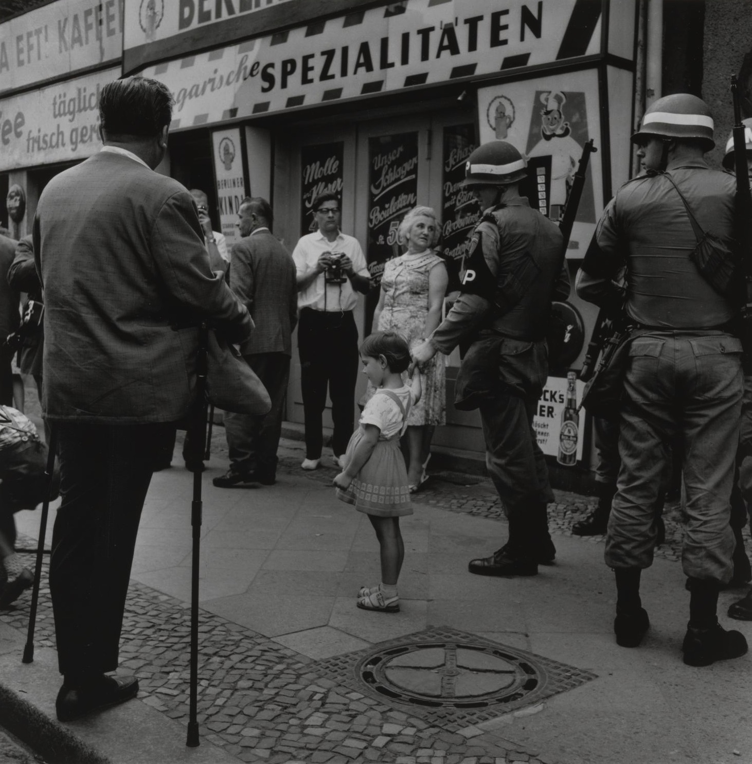 Checkpoint Charlie in Berlin,1961 by Don McCullin.