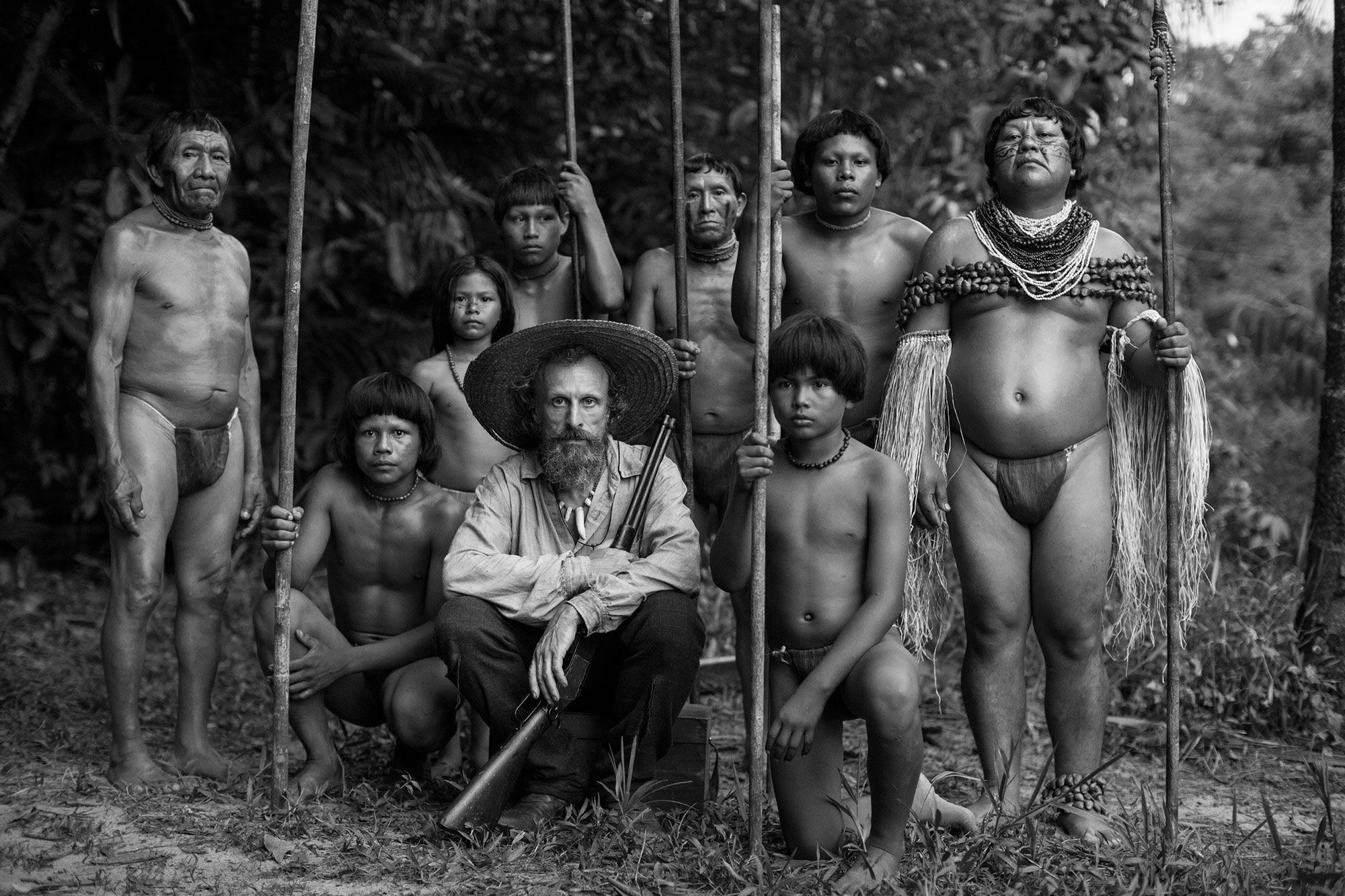 On set of  Embrace of The Serpent,  2015.Photo by Andrés Barrientos.