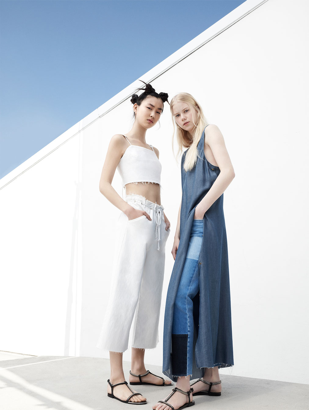 Denim looks from Zara's ' I am Denim ' campaign.