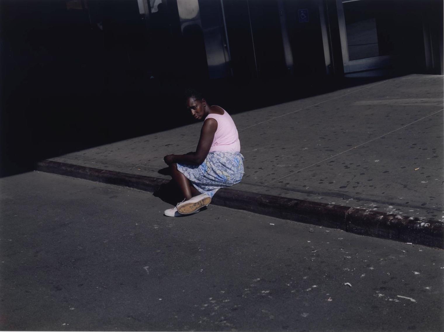 Woman on Sidewalk ,New York,  2002 by Paul Graham.