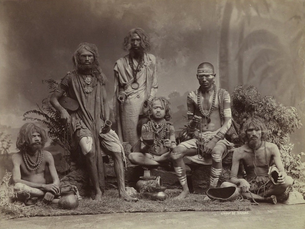 A group of yogis, 1880. Part of Gloria Katz and Willard Huyck collection.