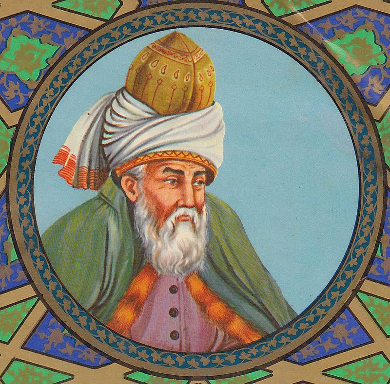 Artistic depiction of Jalāl ad-Dīn Muhammad Rūmī, 1980.