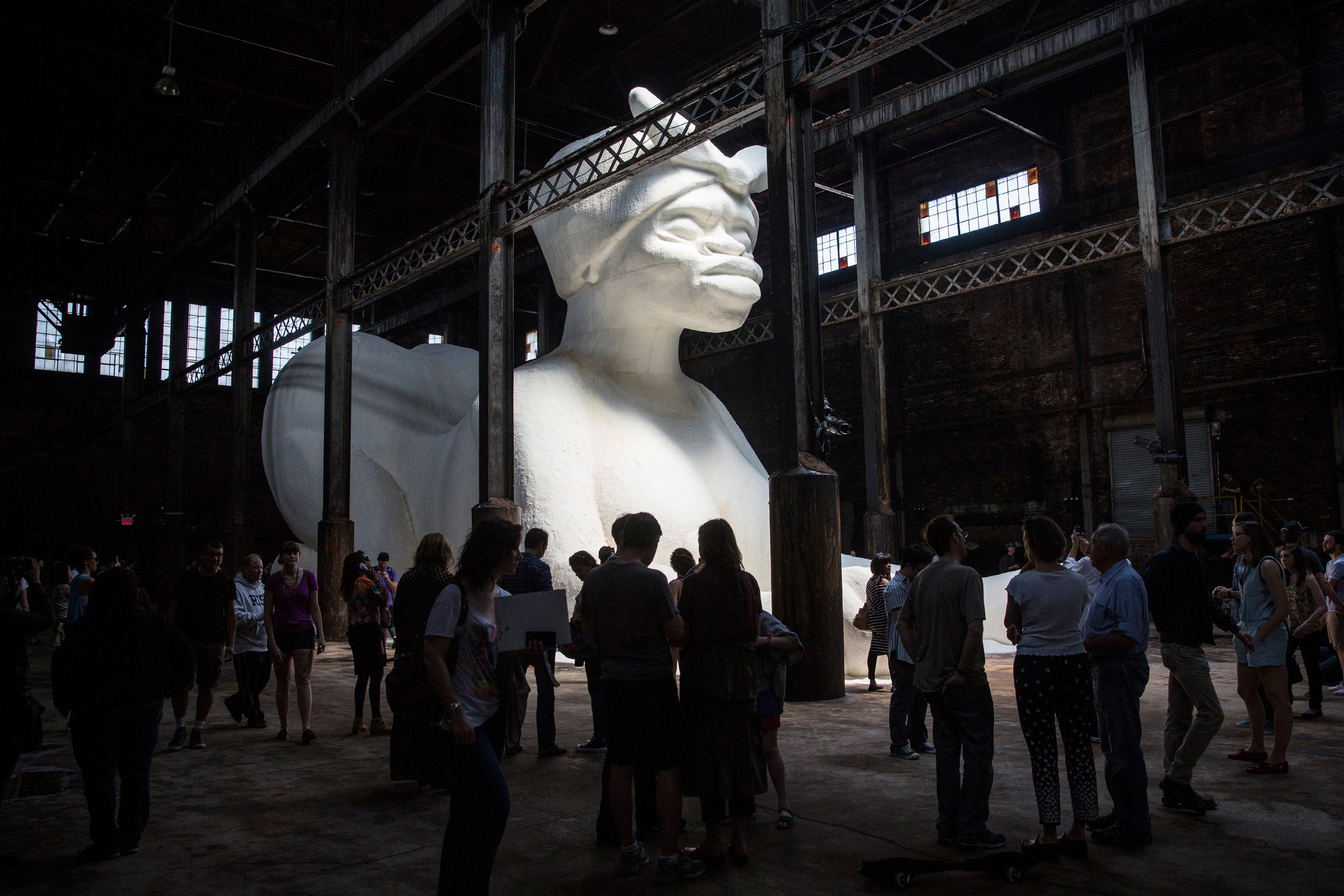 Kara Walker's ' A Subtlety ' exhibition in 2014 at the original Domino Sugar Factory in New York.