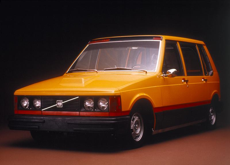 The exterior of experimental taxi, Volvo's Coggiola, 1977.