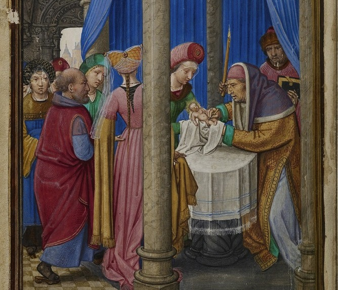 The Circumcision , 1525-1530 by  Simon Bening.