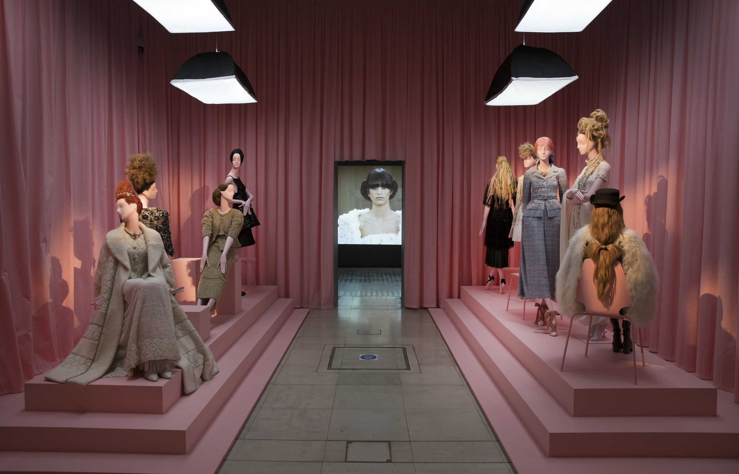 Chanel collection  at  Hair by Sam McKnight  , 2016 exhibition at Somerset House, London.
