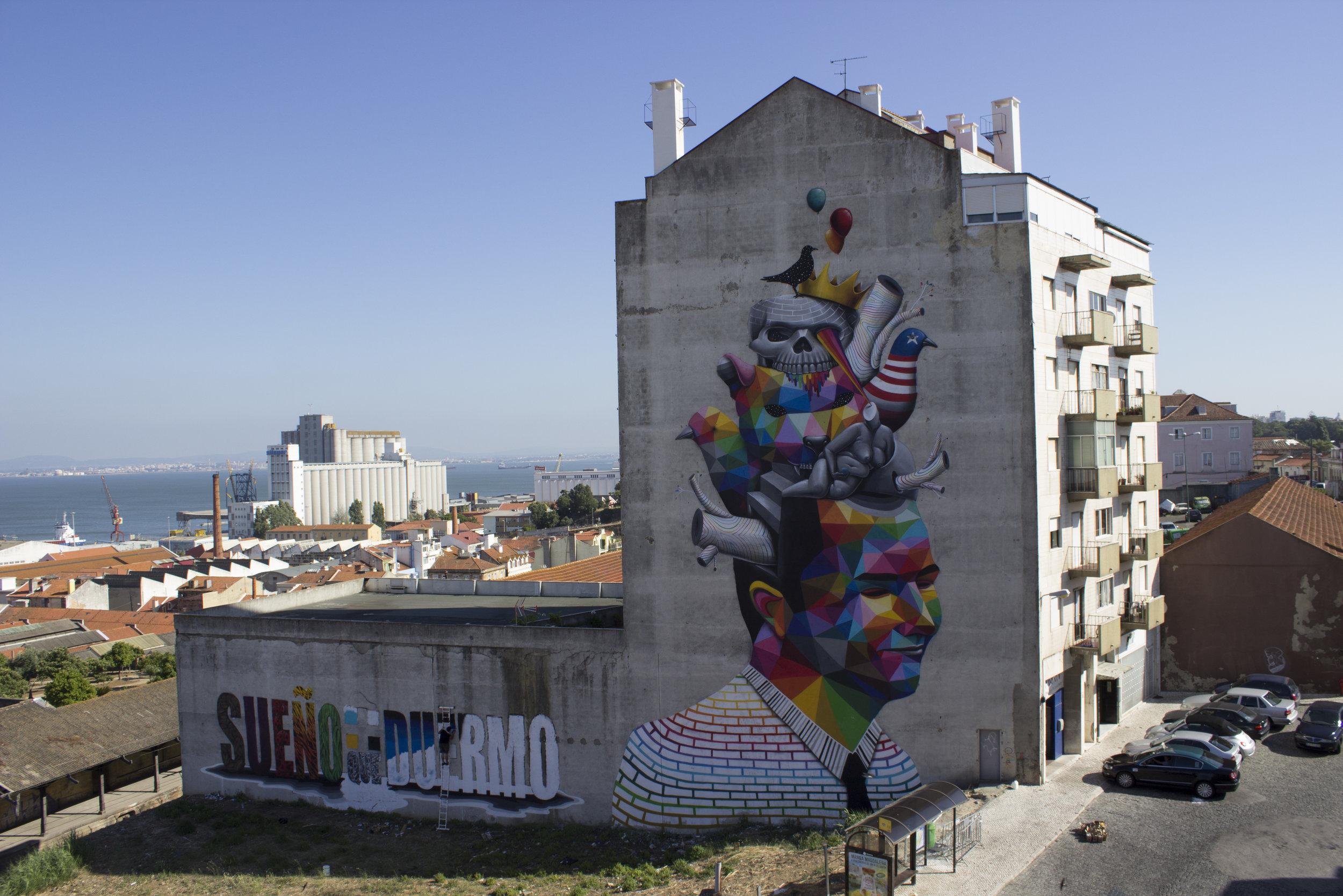 Lisbon,2014 by Okuda San Miguel.