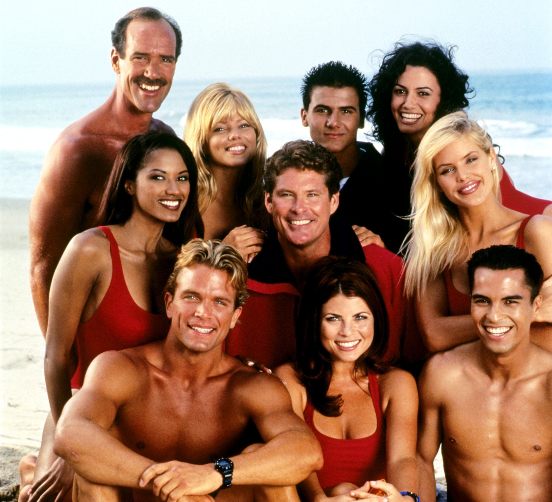 The cast of ' Baywatch ',1999–2001.