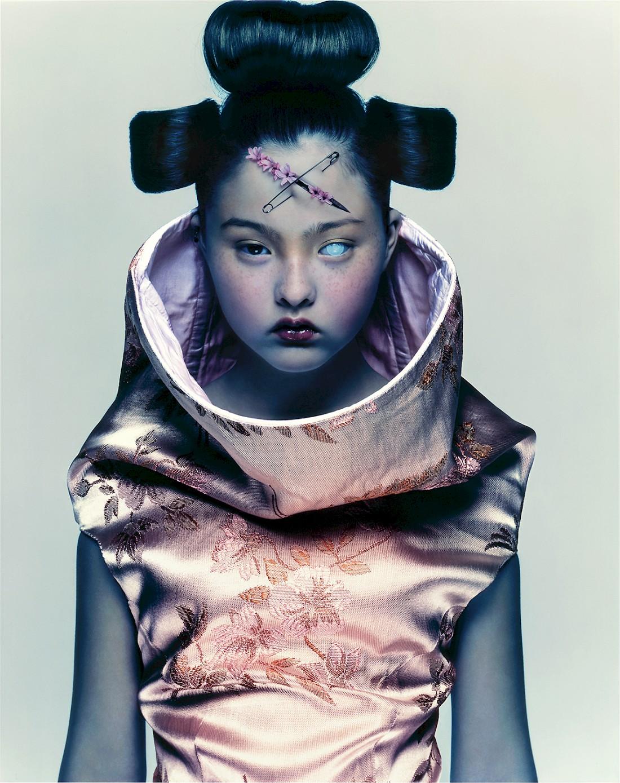 Devon Aoki in Alexander McQueen by Nick Knight for  Visionaire  magazine, 1997.