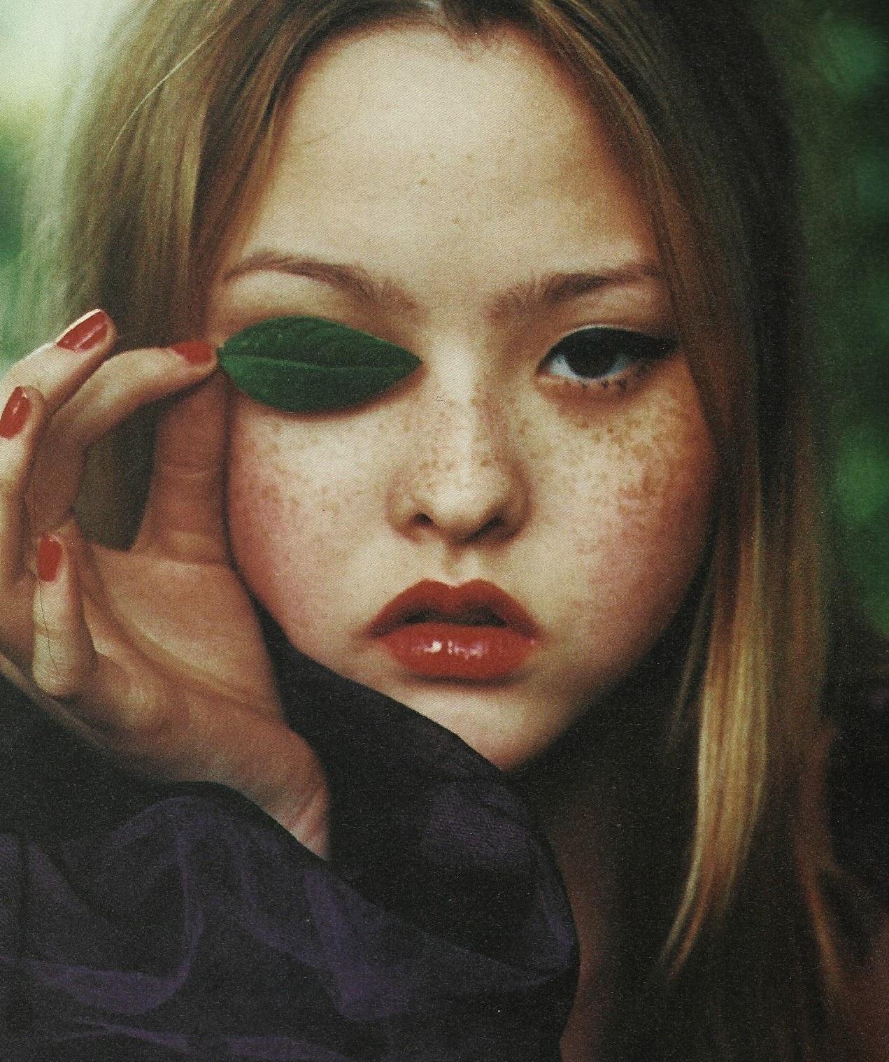 Devon Aoki  by Ellen Von Unwerth for  I-D  magazine  The Adult issue,September 1998.