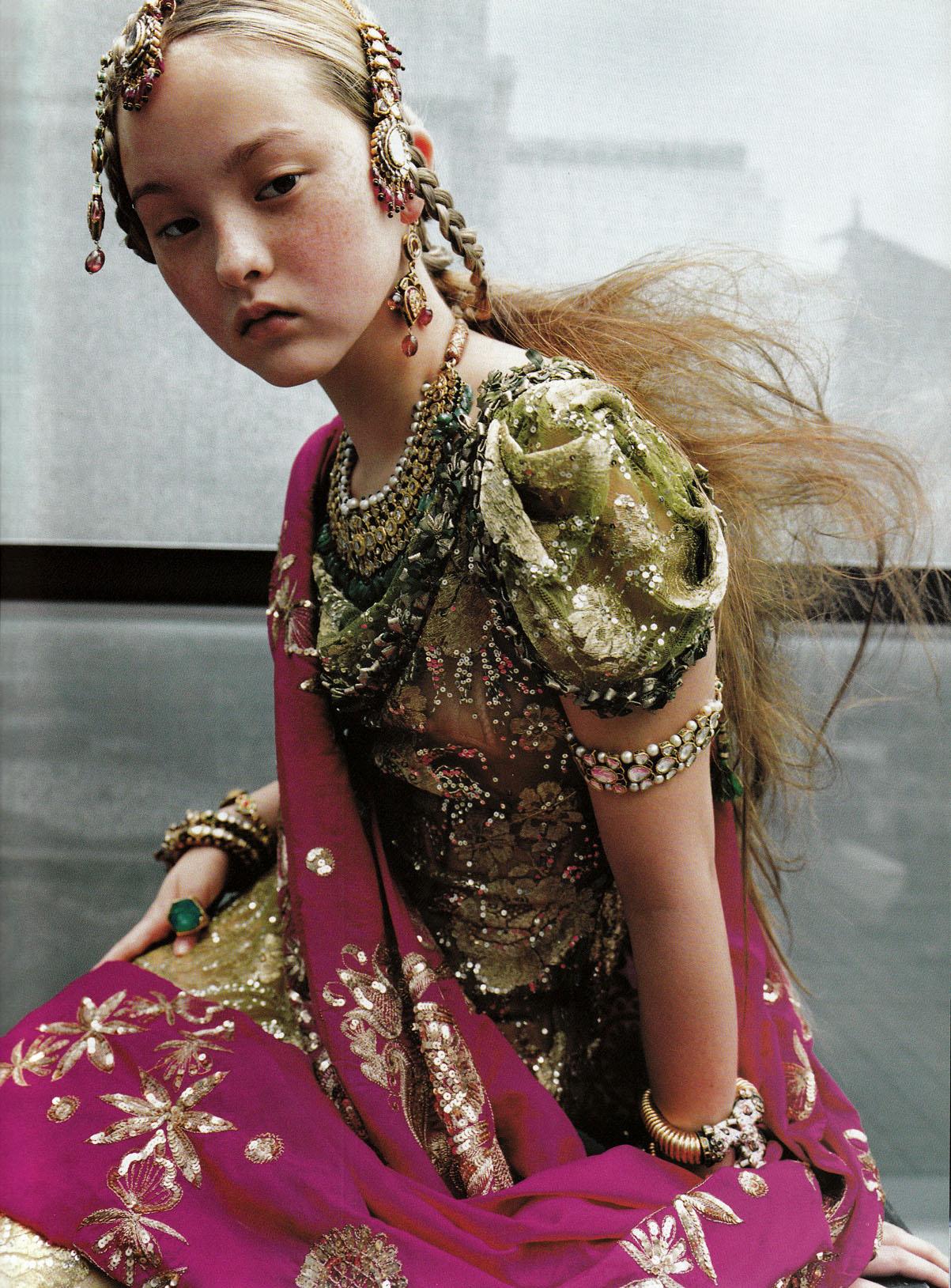 Devon Aoki by  Ruven Afanador for   Vogue  Paris, September 1999.