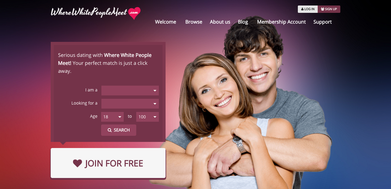 Dating website ' WhereWhitePeopleMeet.com '