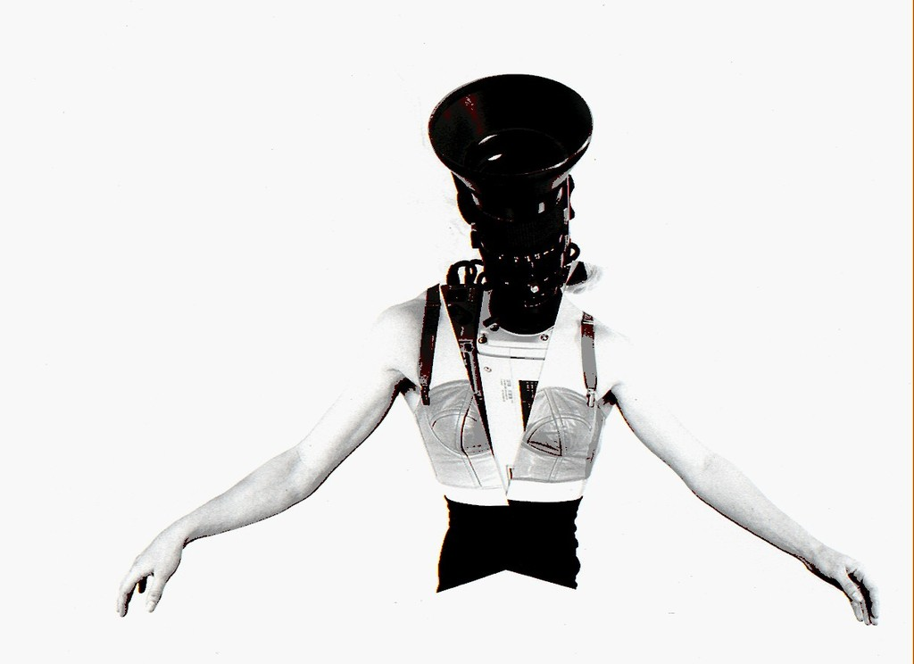 Camerawoman  from the series  Phantom Limb , 1988 by  Lynn Hershman Leeson.
