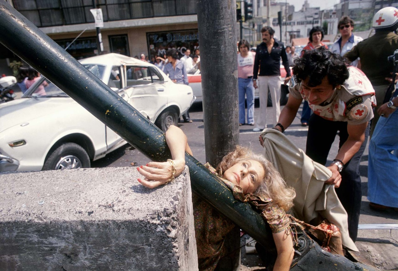 Adela Legarreta Rivas , from the series  101 Tragedies , 1979 by  Enrique Metinides .