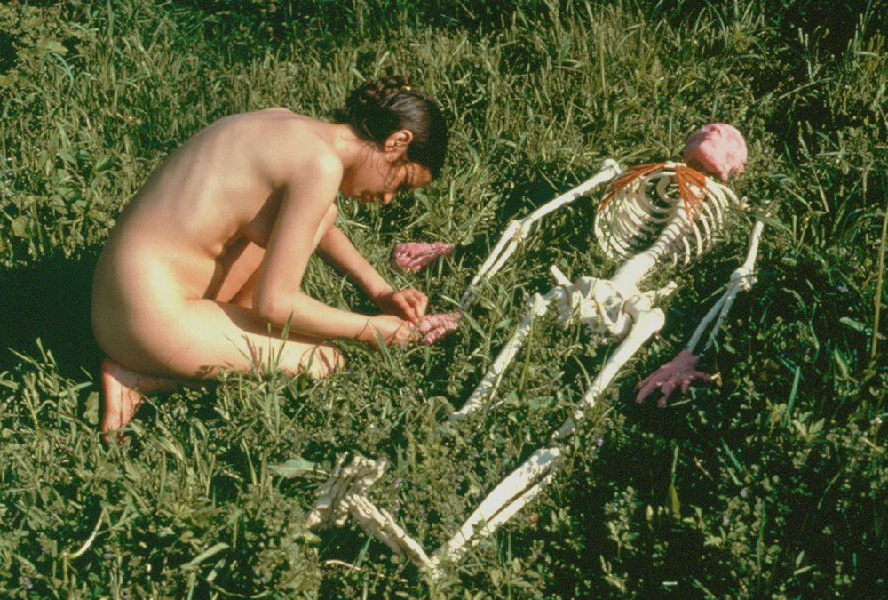 On Giving Life ,1975 by Ana Mendieta.