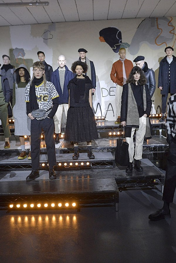 Looks from YMC AW17 collection.