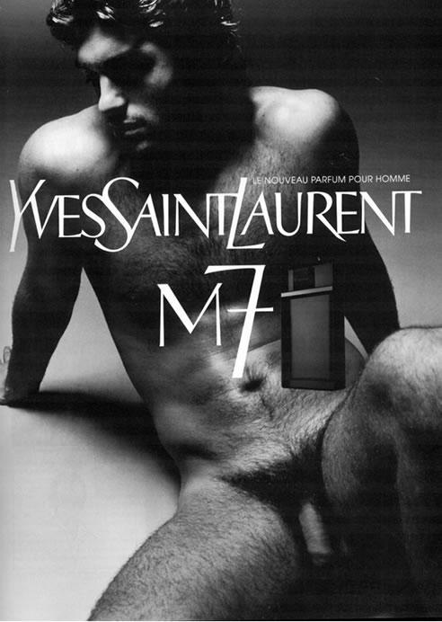 Samuel de Cubber for Yves Saint Laurent's fragrance M7 ad campaign,2002.