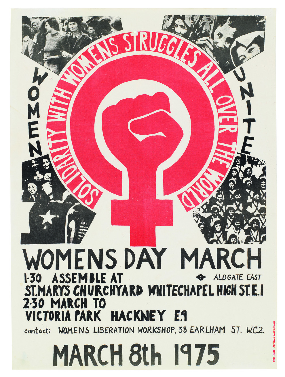 Women's March poster, 1975. Photo source: See Red Women's Workshop.