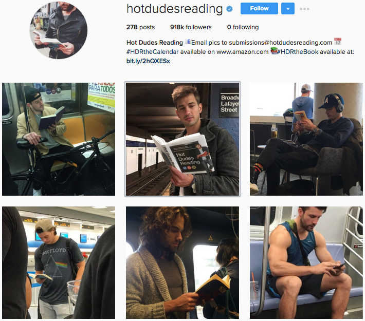 @HotDudesReading's Instagram profile.