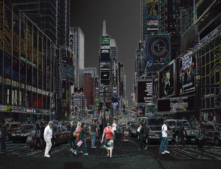 Times Square , 2006, from the series 'Pure Lines' by Wolfram Ruoff.