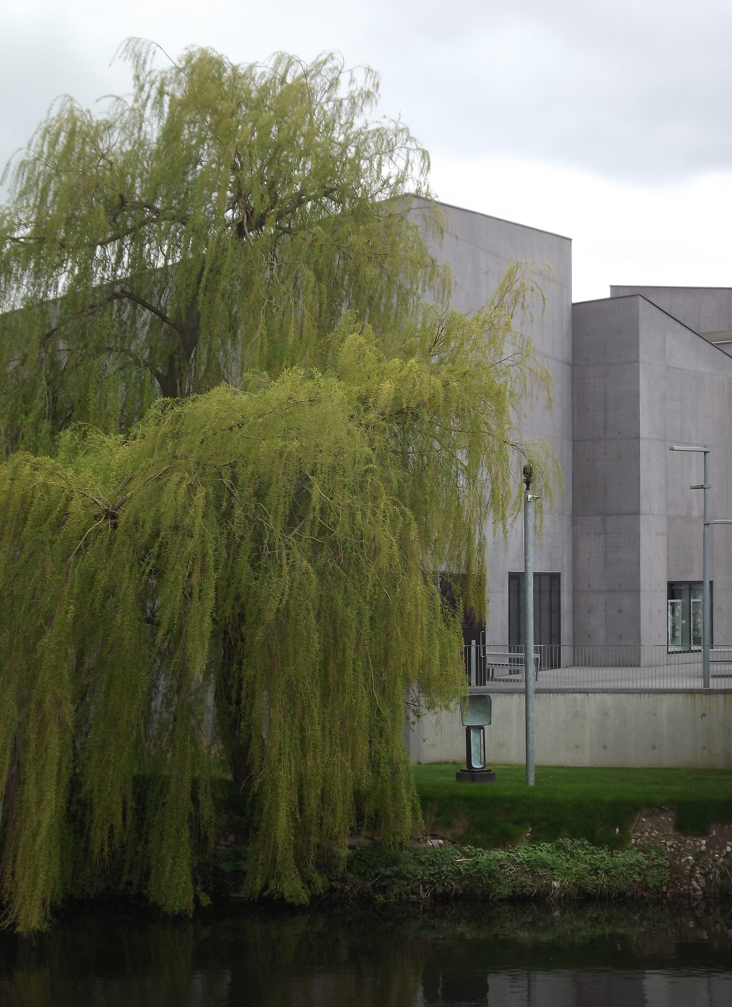 The exterior of Hepworth Wakefield gallery.