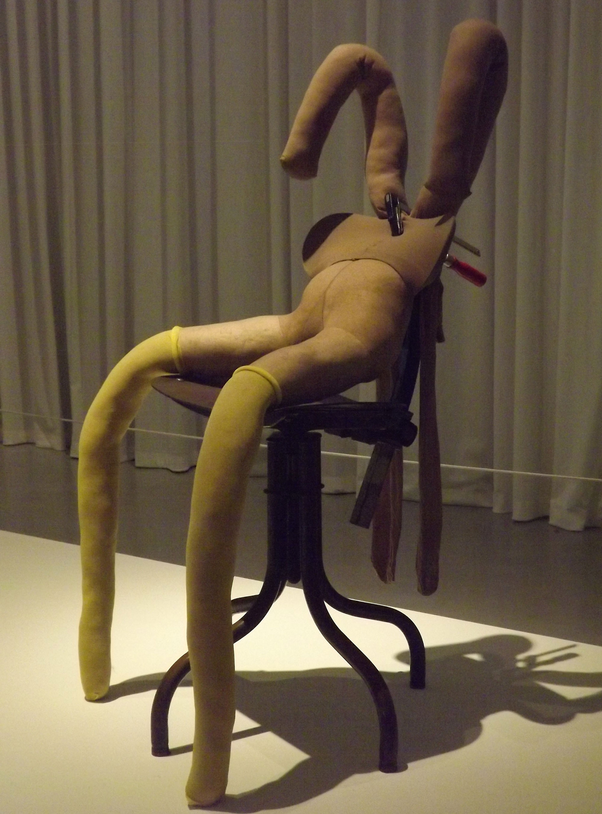 Bunny Gets Snookered  #9, 1997 by Sarah Lucas.