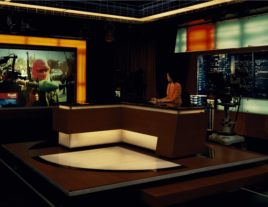 Alhurra TV, Broadcast Studio, Springfield, Virginia , 2007.From the series  An American Index of the Hidden and Unfamiliar  by Taryn Simon.