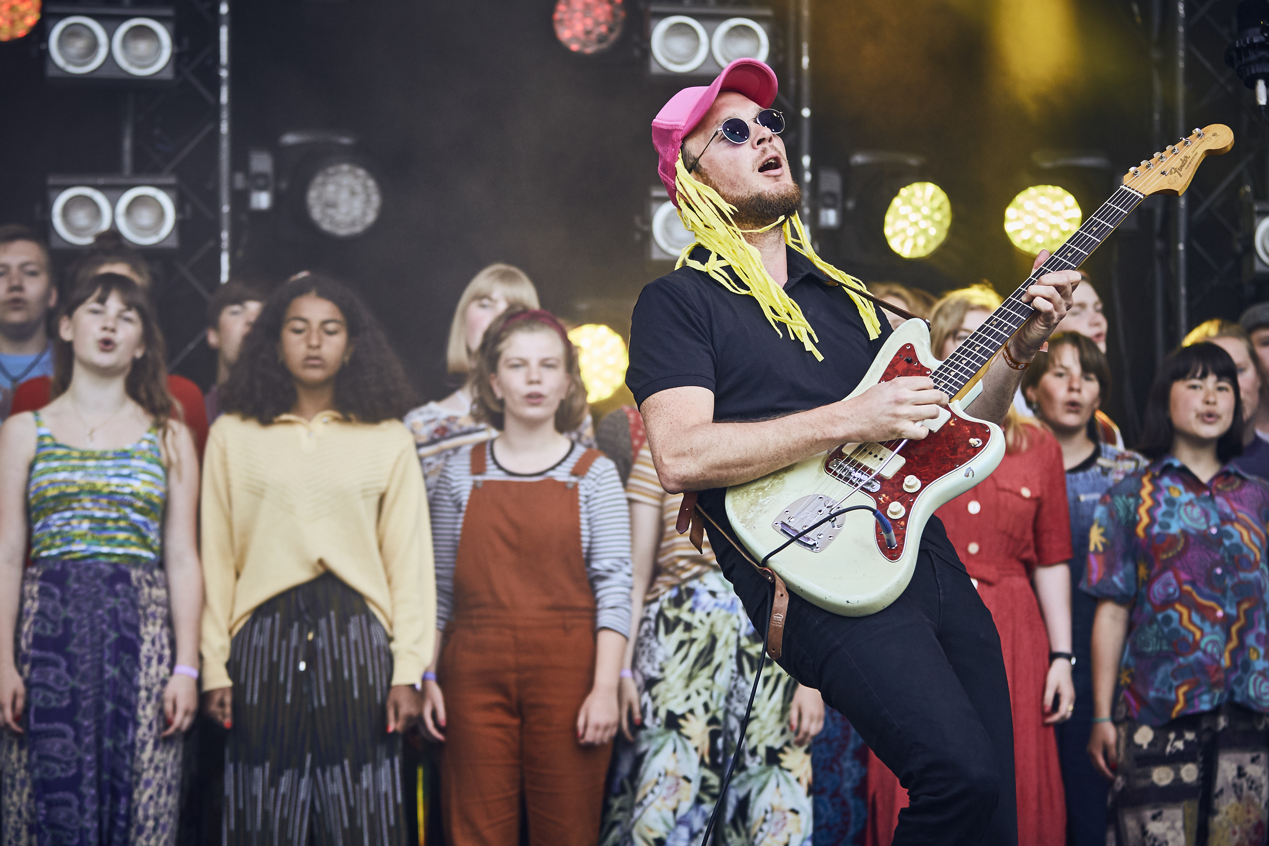 Bisse performing at Heartland Festival, 2017. Photo by Thomas Flensted.