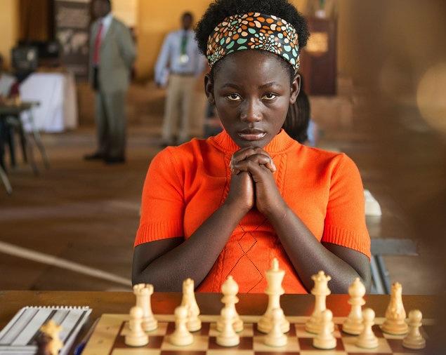 Actress Madina Nalwanga as Phiona Mutesi in  Queen of Katwe , directed by Mira Nair