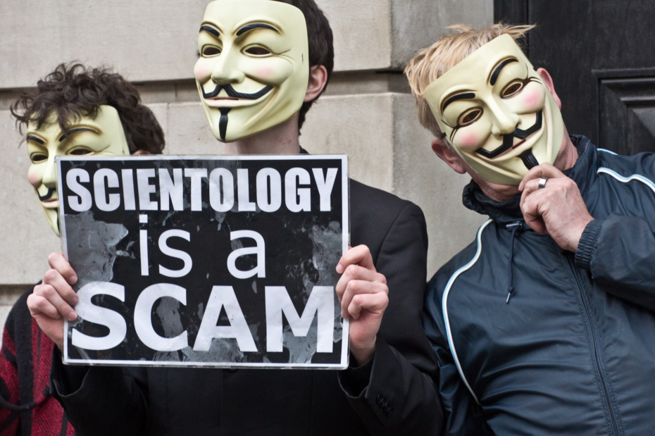 Protest against Scientology church in Ireland, March 2011. Photo source:William Murphy